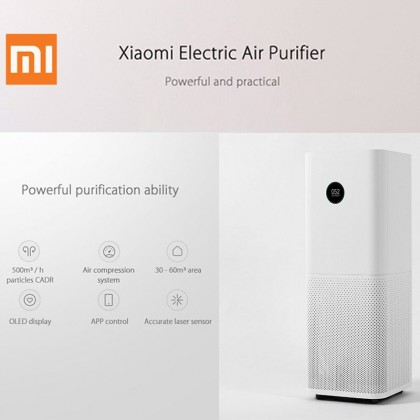 Xiaomi Mi Air Purifier Pro Best Clear Air Delivery Rate (CADR) with Smart Home Wi-Fi Intelligent App Control